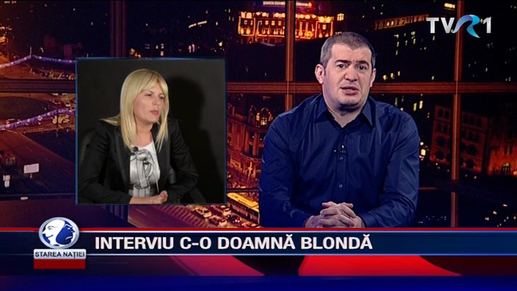 INTERVIU C-O DOAMNĂ BLONDĂ