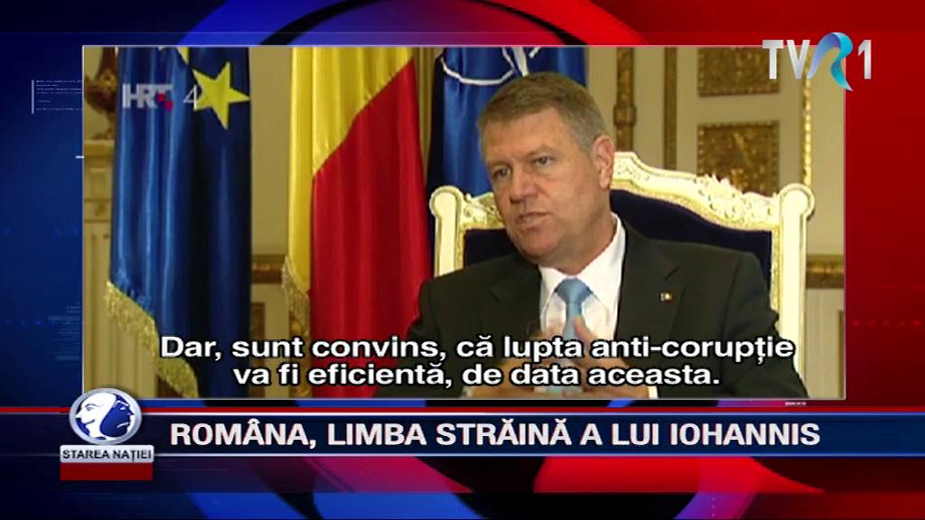 ROMÂNA, LIMBA STRĂINĂ A LUI IOHANNIS