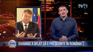 IOHANNIS A AFLAT CĂ E PREȘEDINTE ÎN ROMÂNIA