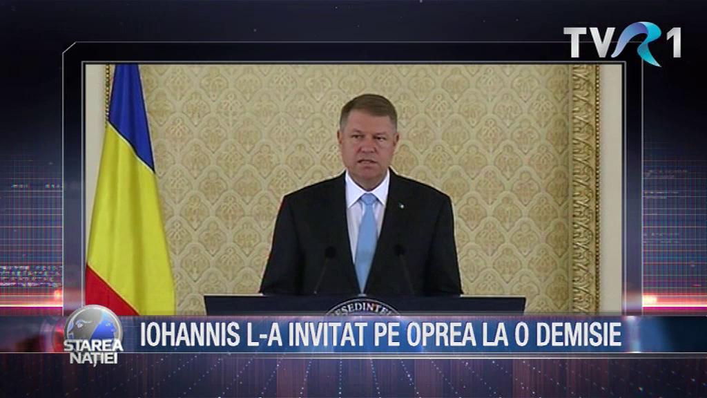 IOHANNIS L-A INVITAT PE OPREA LA O DEMISIE