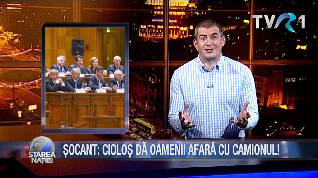 ȘOCANT: CIOLOȘ DĂ OAMENII AFARĂ CU CAMIONUL!