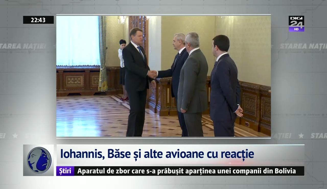 Iohannis, Băse și alte avioane cu reacție