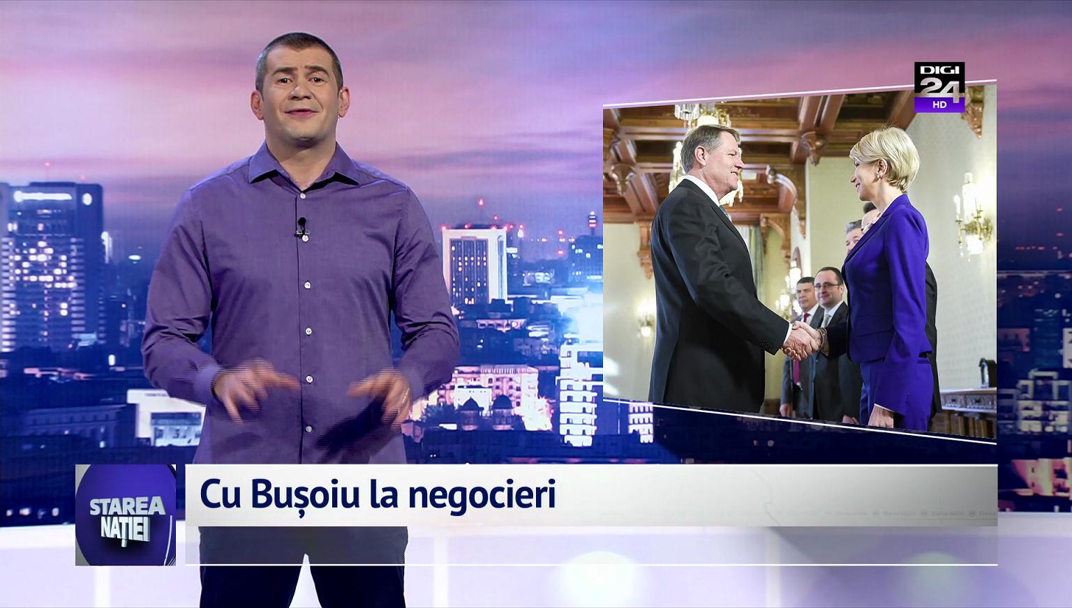 Cu Bușoiu la negocieri