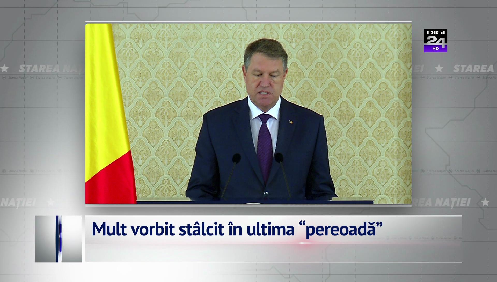 """Mult vorbit stâlcit în ultima """"pereoadă"""""""