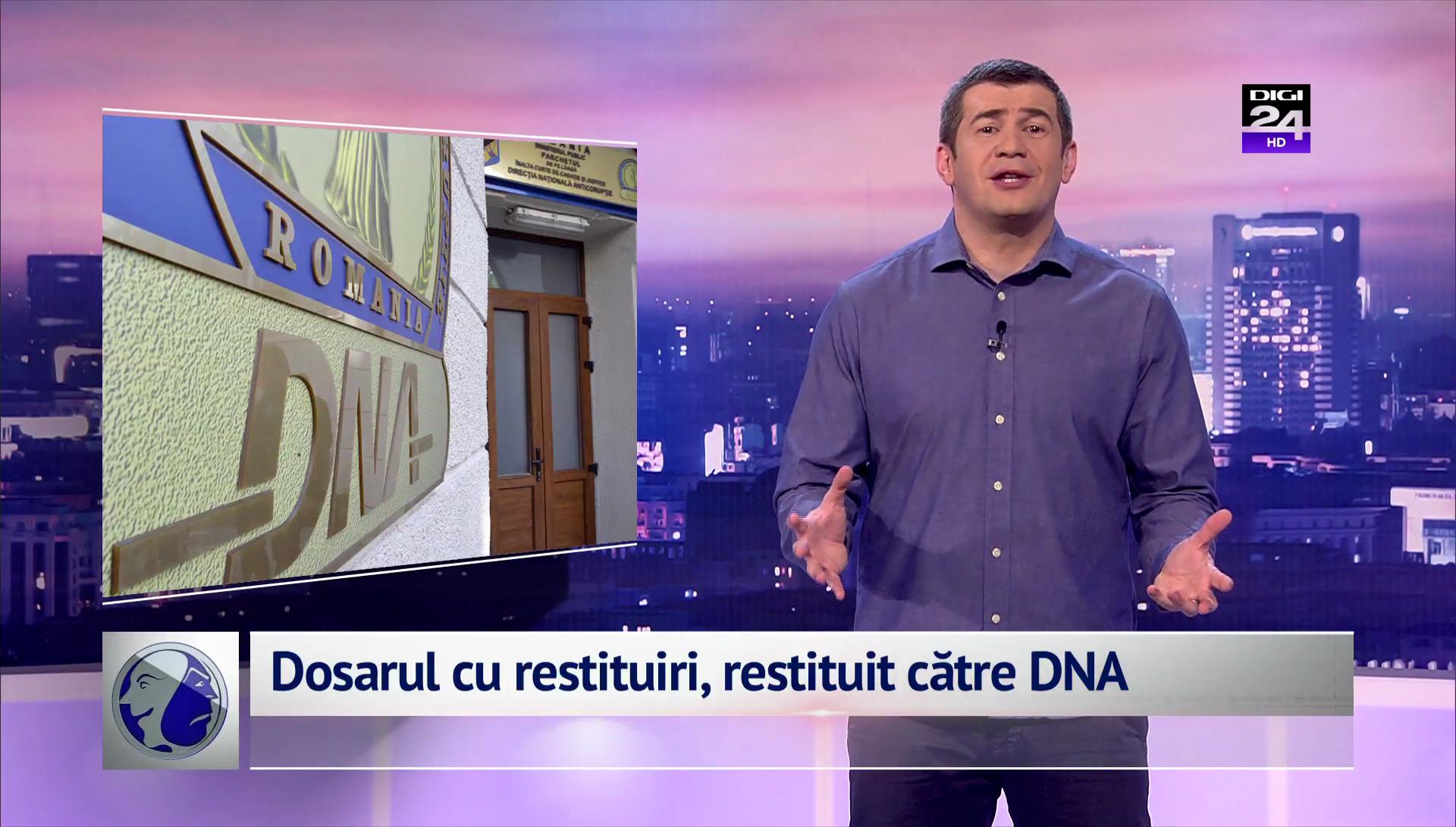 Dosarul cu restituiri, restituit către DNA