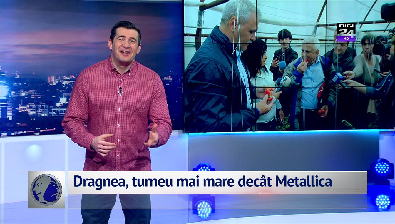 Dragnea, turneu mai mare decât Metallica