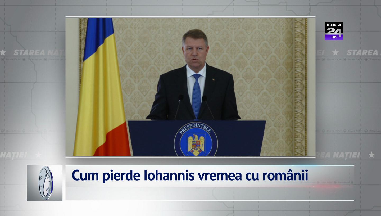 Cum pierde Iohannis vremea cu românii