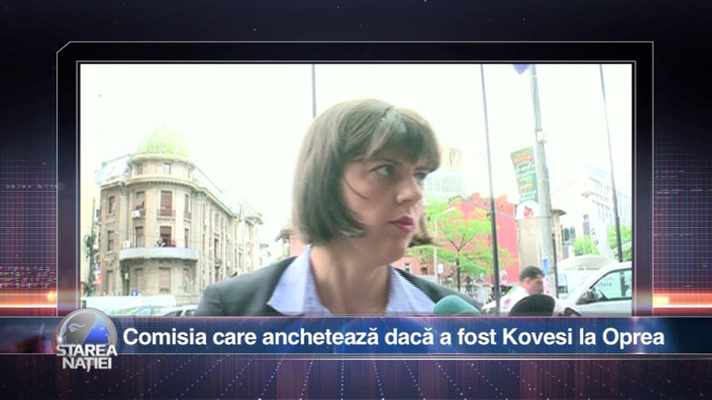 Comisia care anchetează dacă a fost Kovesi la Oprea