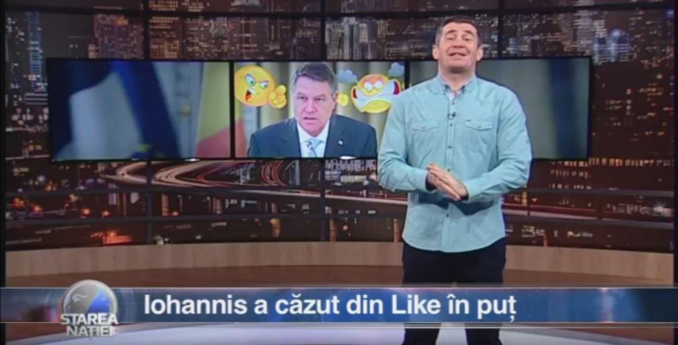 Iohannis a căzut din Like în puț