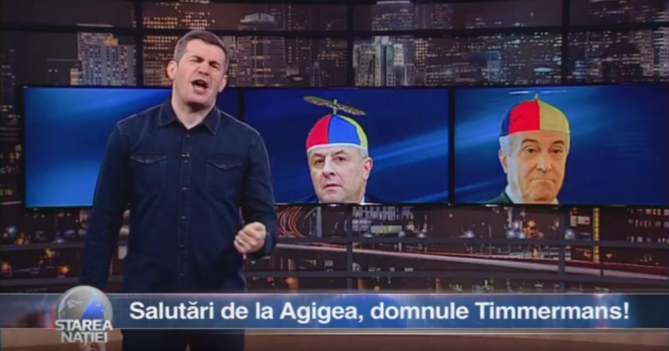 Salutări de la Agigea, domnule Timmermans!