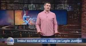 Întâiul biciclist al țării, călare pe Legile Justiției