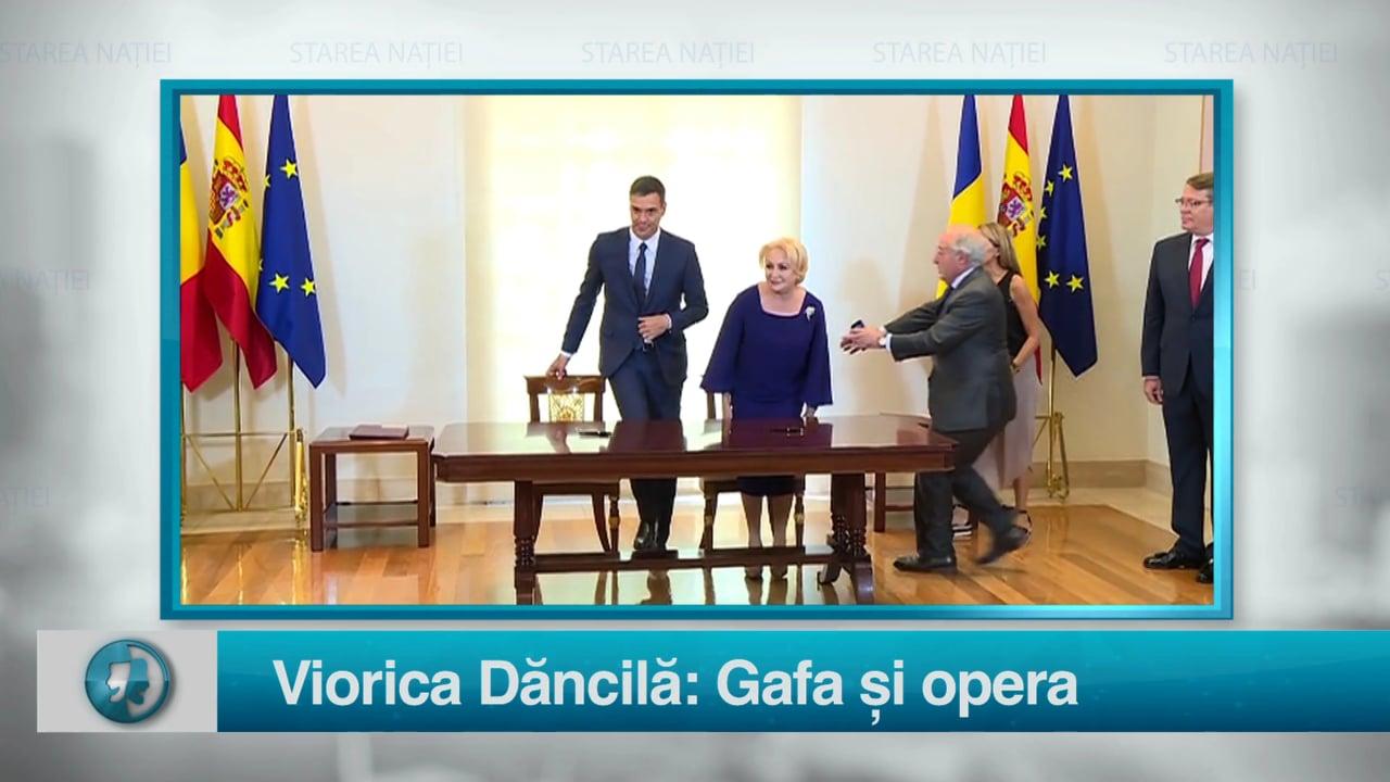 Viorica Dăncilă: Gafa și opera