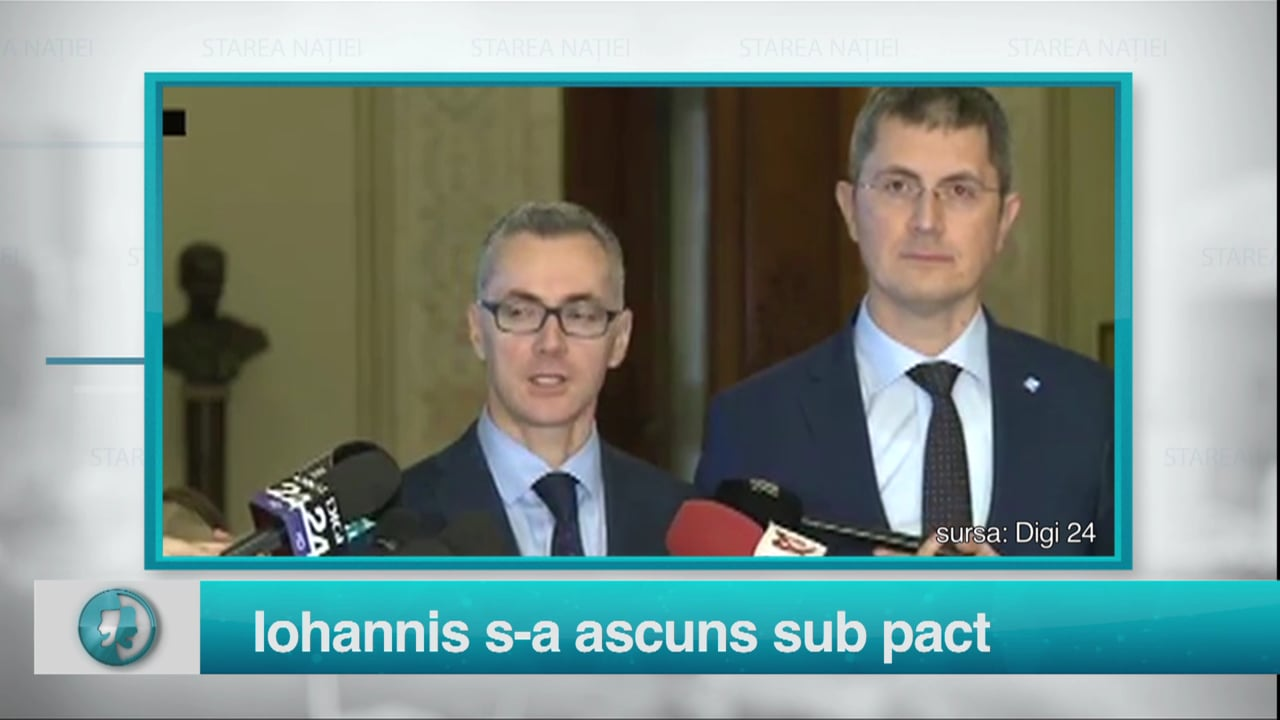 Iohannis s-a ascuns sub pact
