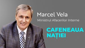 Marcel Vela, ministrul Afacerilor Interne, la Cafeneaua Nației