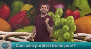 Cam câte porții de fructe pe zi?