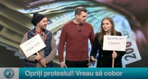 Opriți protestul! Vreau să cobor